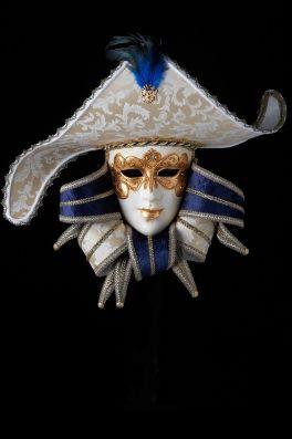 Damask Noble Man | tradition venetian papier mache mask for sale