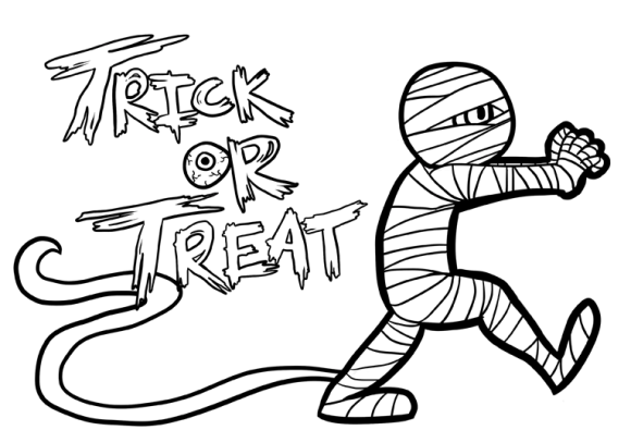 mummy halloween coloring pages print free  hallowen
