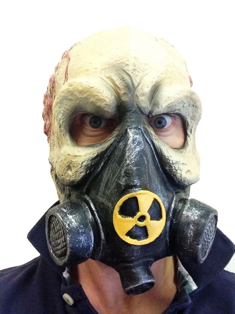 Skull Gas Mask Radioactive Man Fancy Dress Masquerade The