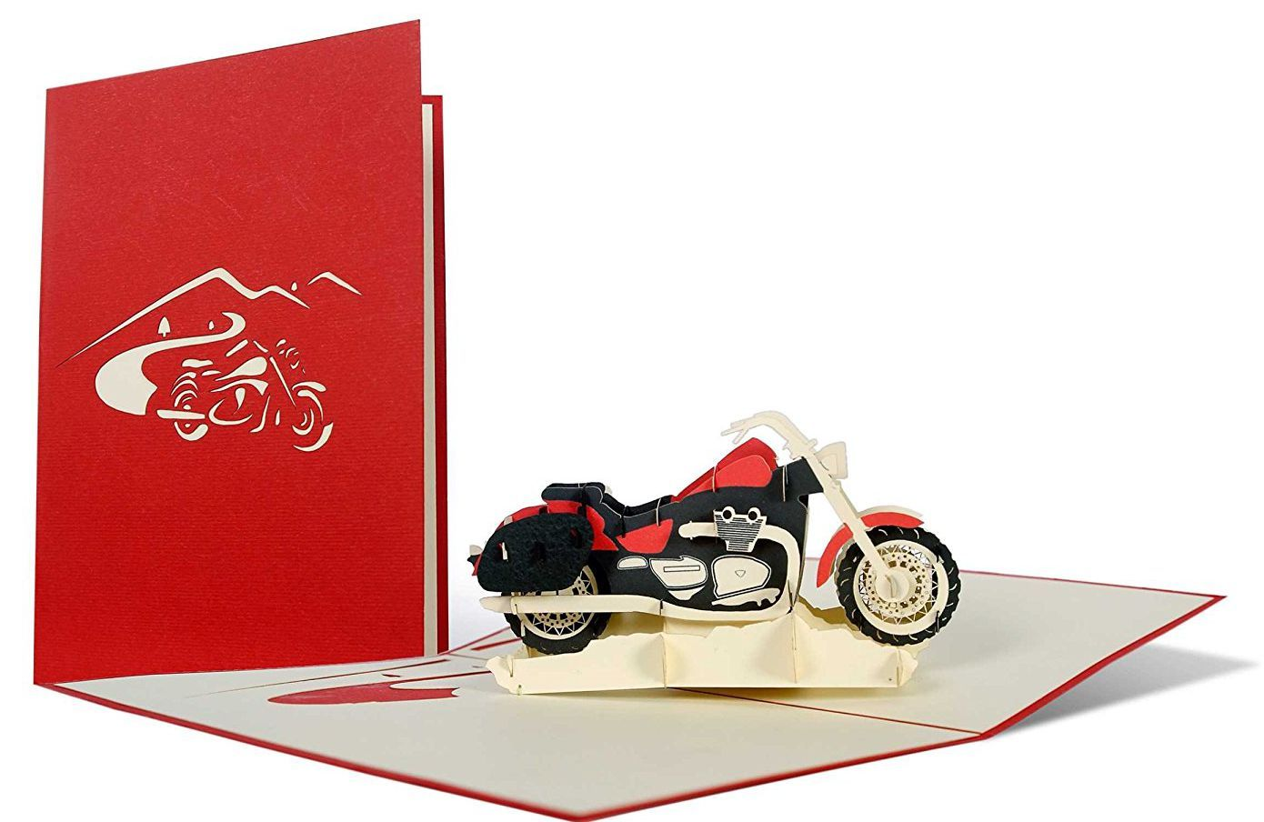Geburtstagskarte Motorrad, Glückwunschkarte oder Gutschein für ...