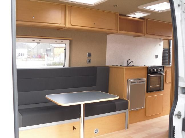 Home built ducato interior small campervan ideas for Campervan furniture plans