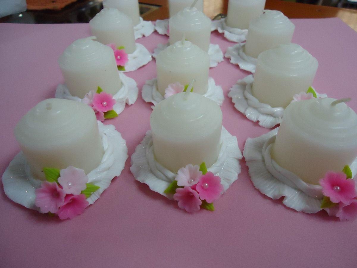 Recuerdos para bautizo de vela manualidades pinterest - Velas de adorno ...