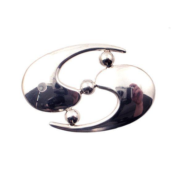 Modern Design Silver Brooch