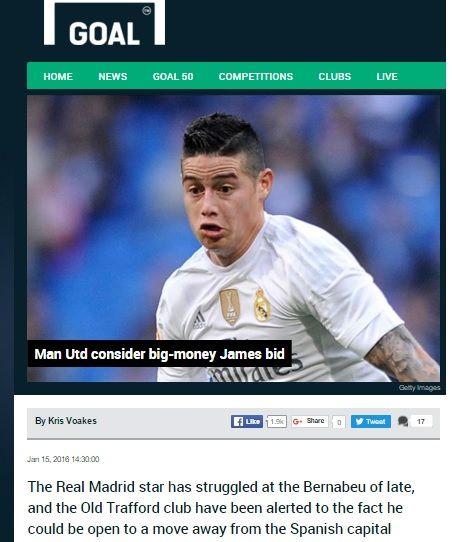 James Rodriguez at Manchester United (Photo) | Strongi.info