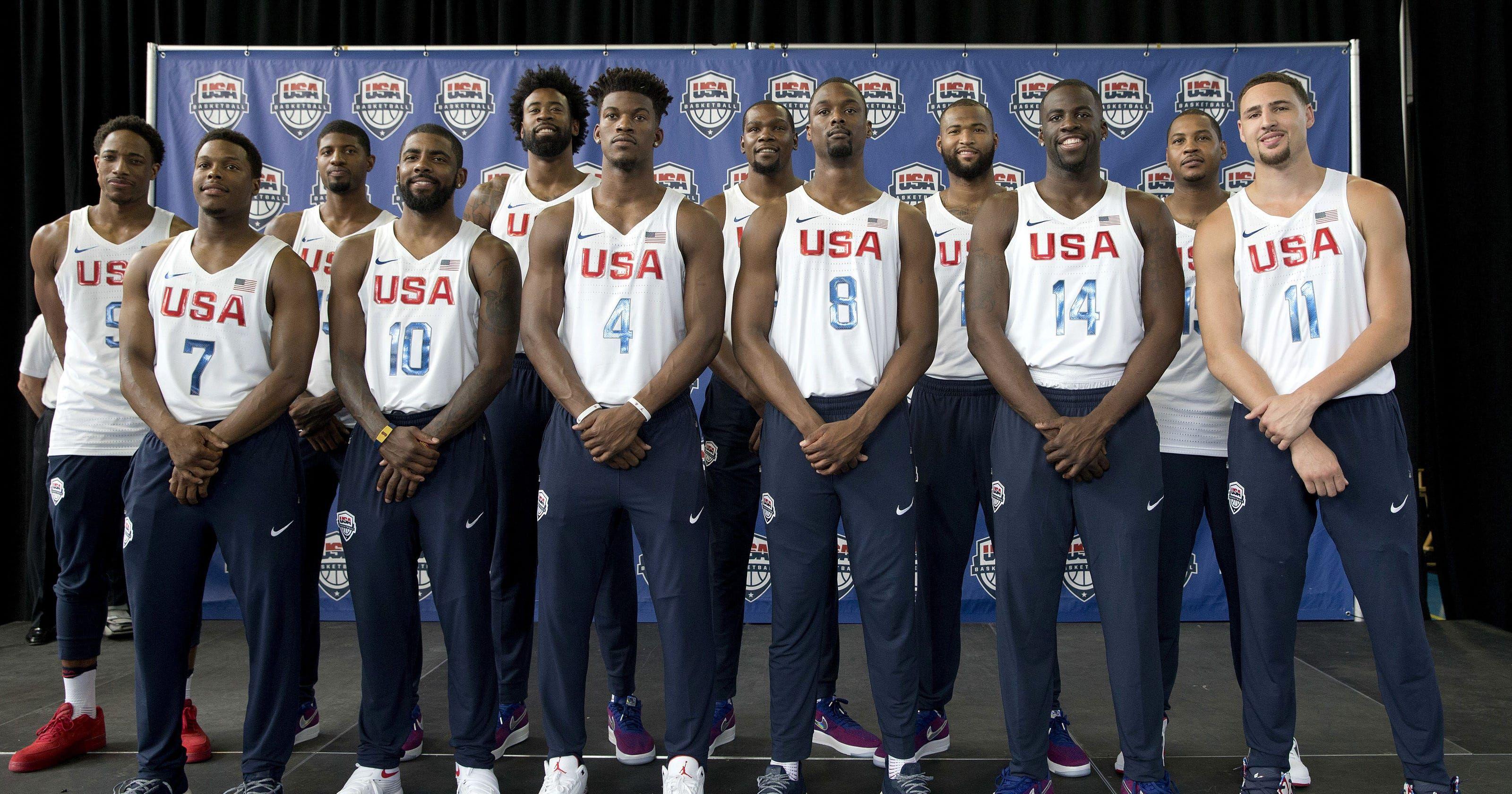 Team USA Basketball Players List Game Dates and Live