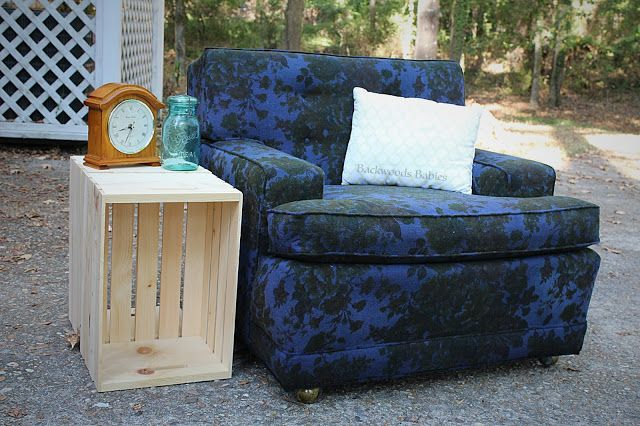 Backwoods Babies: How the Beast Became a Beauty: How to Dye an Ugly Chair!