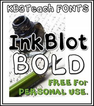Download FREE FONTS: KB3 Ink Blot 6-Font Set (Personal Use ...