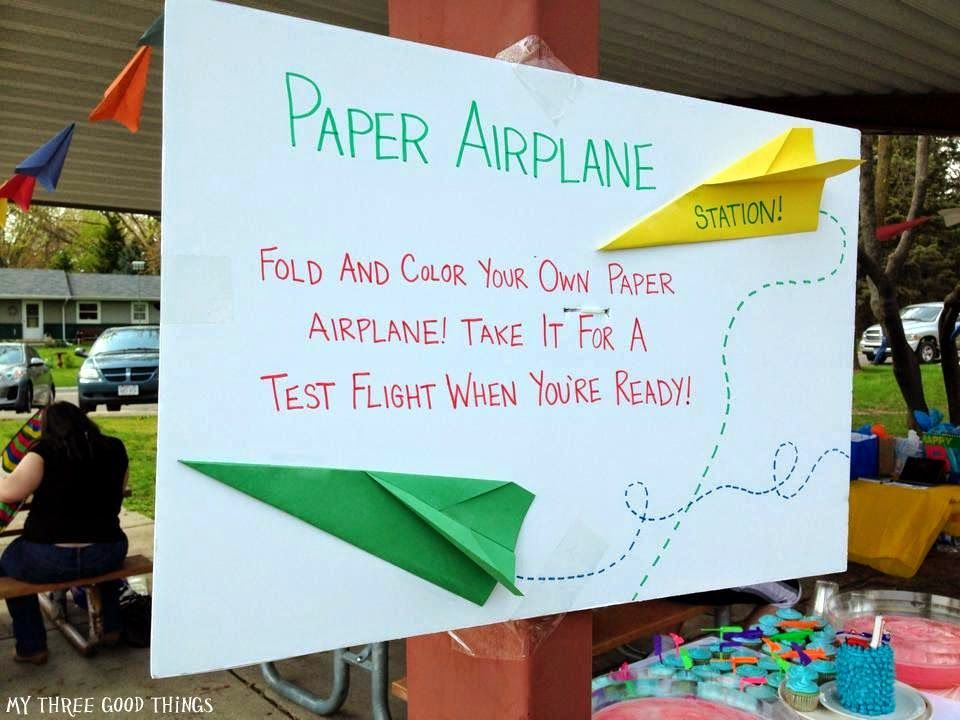 Airplane birthday party games Maybe make the kids have a paper