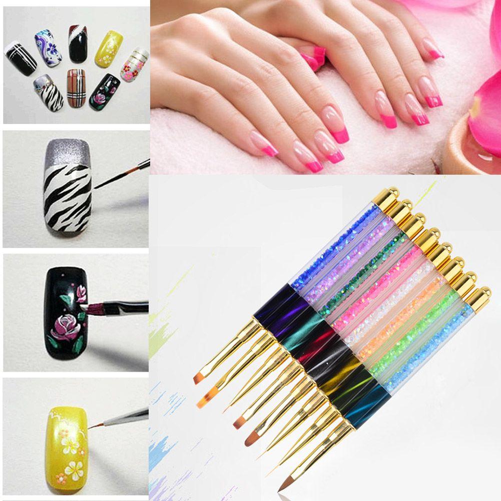 3d Diy Manicure Nail Tips Design Crystal Acrylic Gel Nail Polish