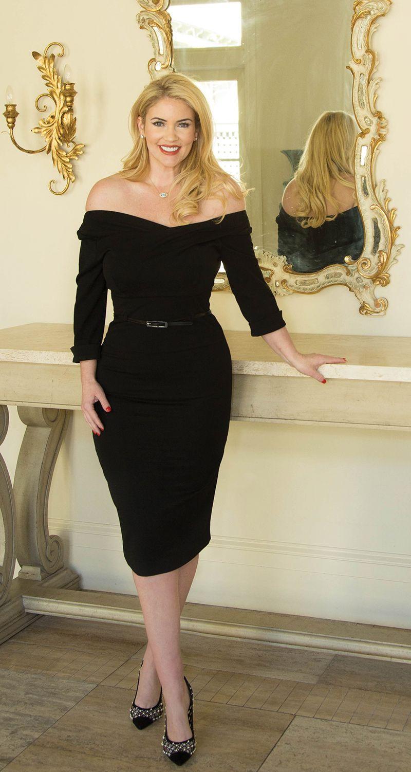 Ladies Who Launch Ingrid Rinck Black cocktail dress
