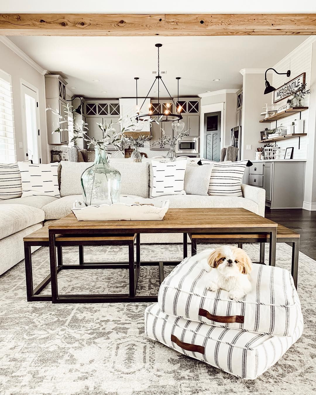 Holly Brad Ourfauxfarmhouse On Instagram King Of His Castle That Modern Farmhouse Living Room Farmhouse Decor Living Room Farm House Living Room