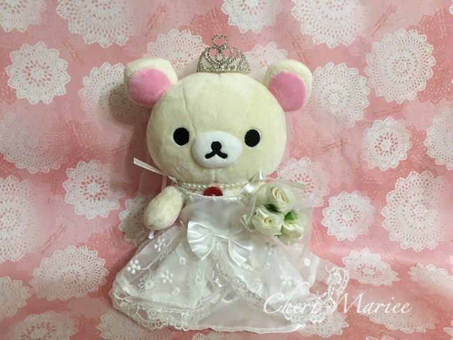 Photo of A wedding dress to be worn on the Korilakkuma Plush S …