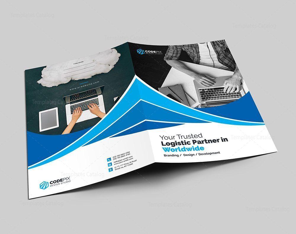 First class presentation folder template graphic