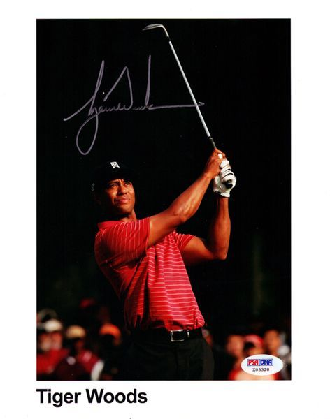 Tiger Woods Autographed 8x10 Photo PSA/DNA