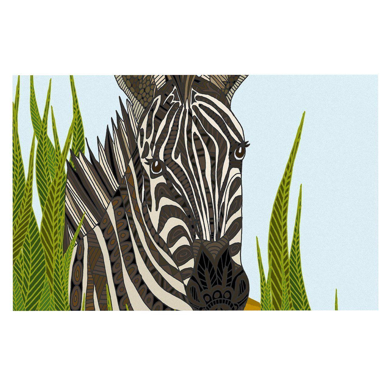 30 x 20 Kess InHouse Art Love Passion Zebra Black White Fleece Pillow Case