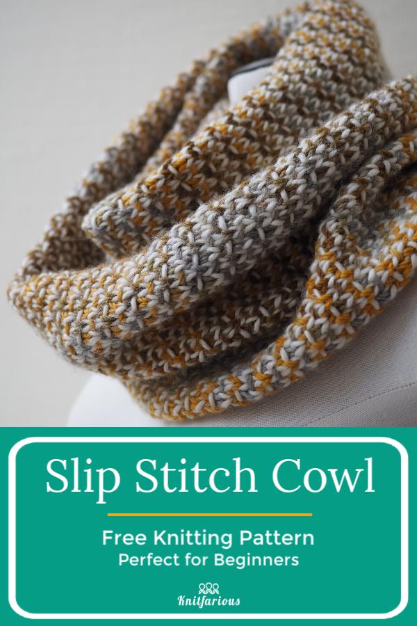 Photo of Slip Stitch Cowl: Stricken für Anfänger,  #Anfänger #Cowl