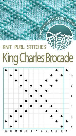 Photo of King Charles Brocade #texturespatterns Strickstichmuster – King Charles B …