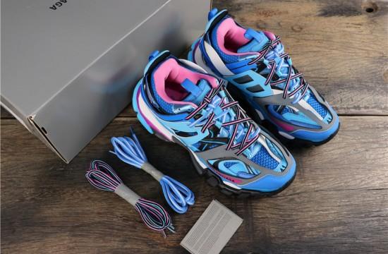 Balenciaga Track Trainers Blue Pink