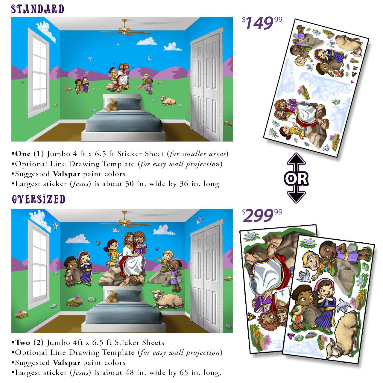 Wacky World Studios - Jesus Stories Peel'N'Stick - Room In A Tube, $149.99 (http://themes-to-go.com/jesus-stories-peelnstick-room-in-a-tube/)