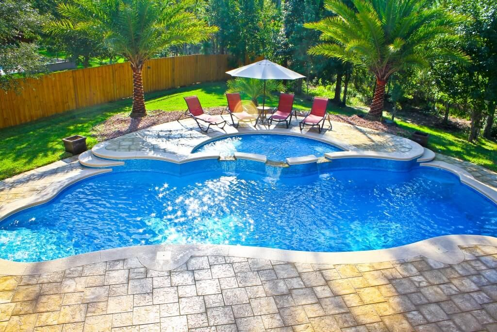 backyard designs with inground pools | pool design and pool ideas
