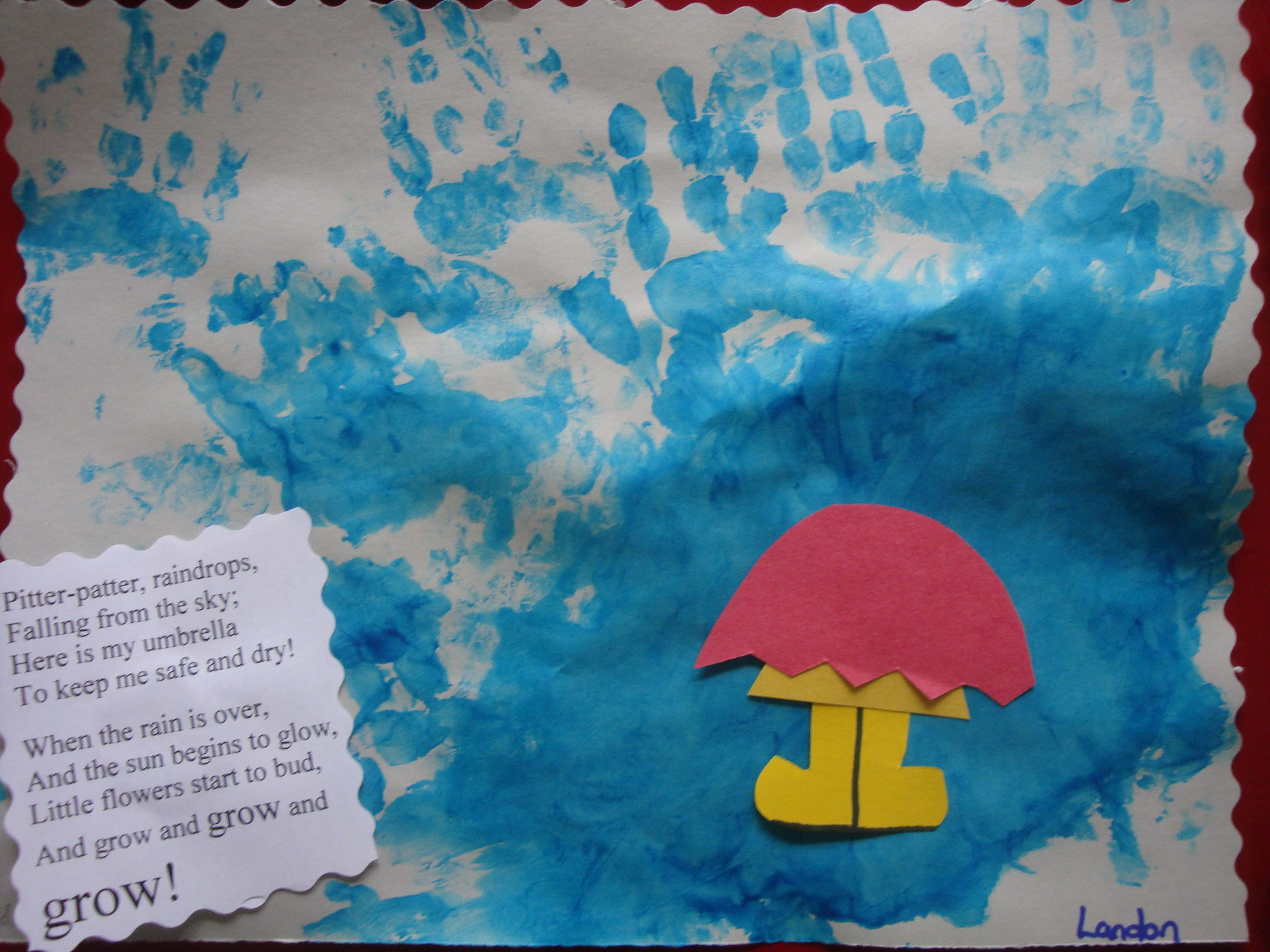 Puddle Jumping Finger Painting April Showers This Pin