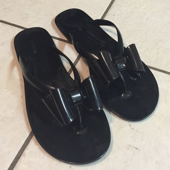 5d62b520a Express  Black Bow Sandals Black Bow Sandals from Express...Perfect  Condition.