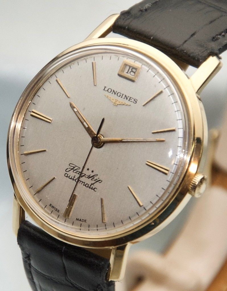 07a7001fe8 Very Fine Vintage 18K Gold Longines Flagship 341 Cal Automatic Wristwatch No  Res