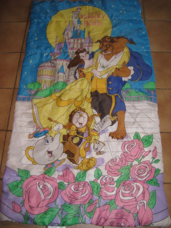best sneakers 3aa9e f4ae6 Vintage Beauty and the Beast Sleeping Bag by ...