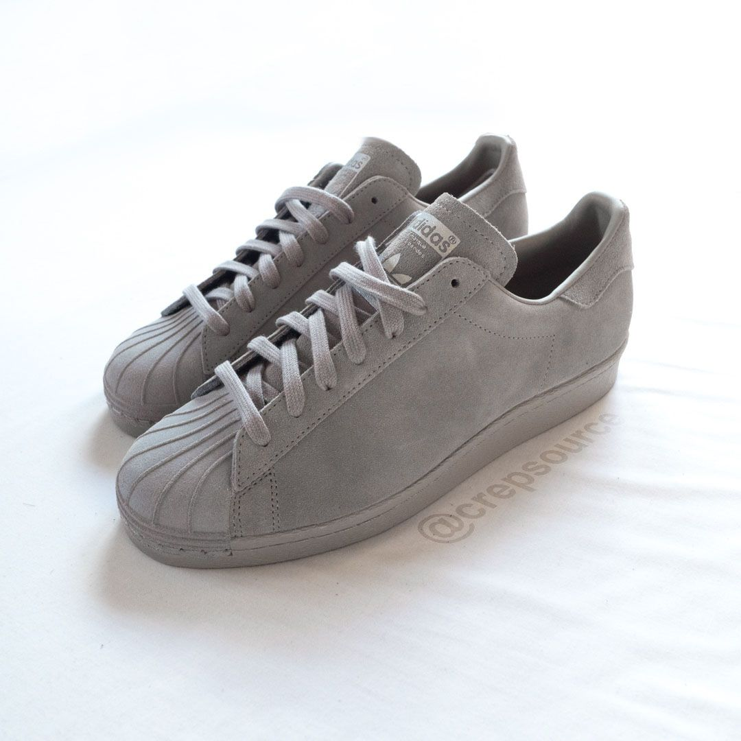 quality design d93db fed14 mi adidas superstar grey feather suede 3 | Shoes. | Sneakers ...
