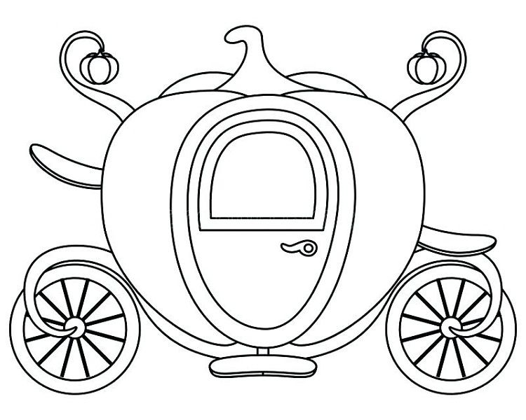 Cinderella Pumpkins Carriage Coloring Pages Cinderella Pumpkin