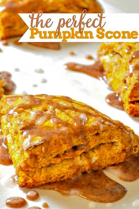 Homemade Spiced Glazed Pumpkin Scones - They are moist with the perfect combination of fall spices. | The Love Nerds