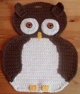 Topflappen Eule Häkeln Diy Eulen Deko Crochet Pinterest