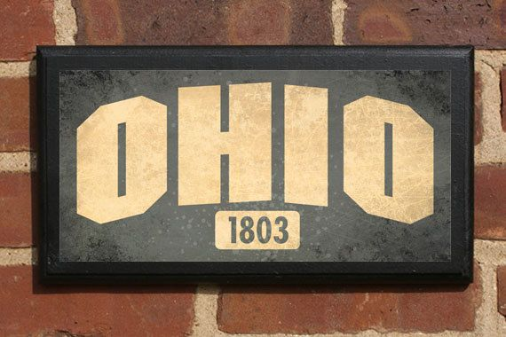 Ohio OH Wall Art Sign Plaque Gift Present Personalized Color Custom ...