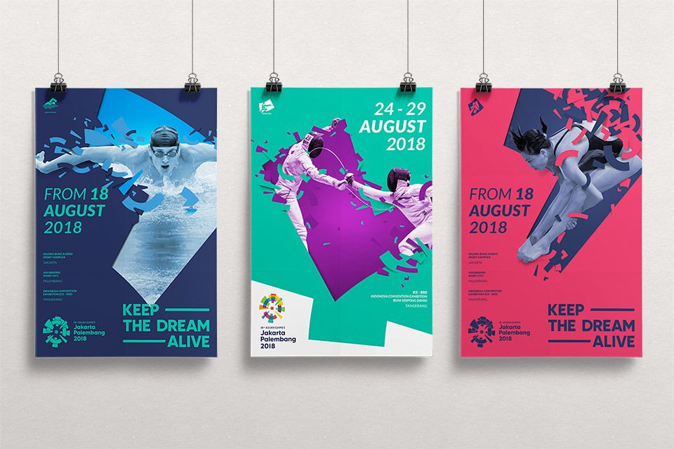 Feat Studio Works Asian Games 2018 Event poster