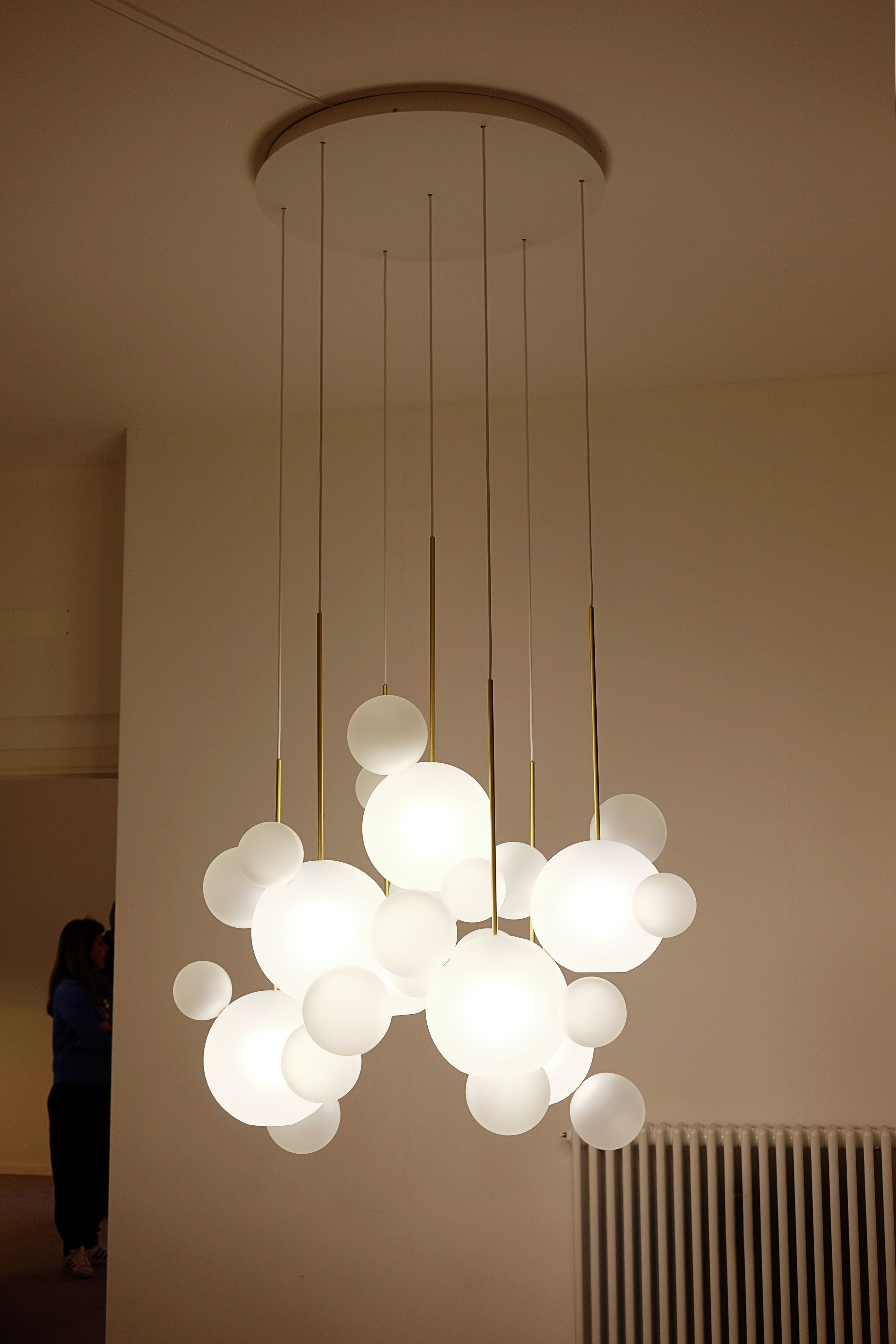 Giopato coombes bolle chandelier frosted milano design for Design nachbau