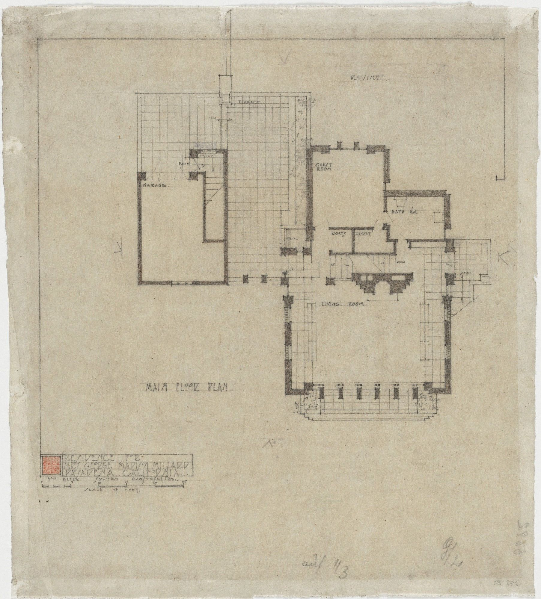 Millard House frank lloyd wright. la miniatura, mrs. george madison millard