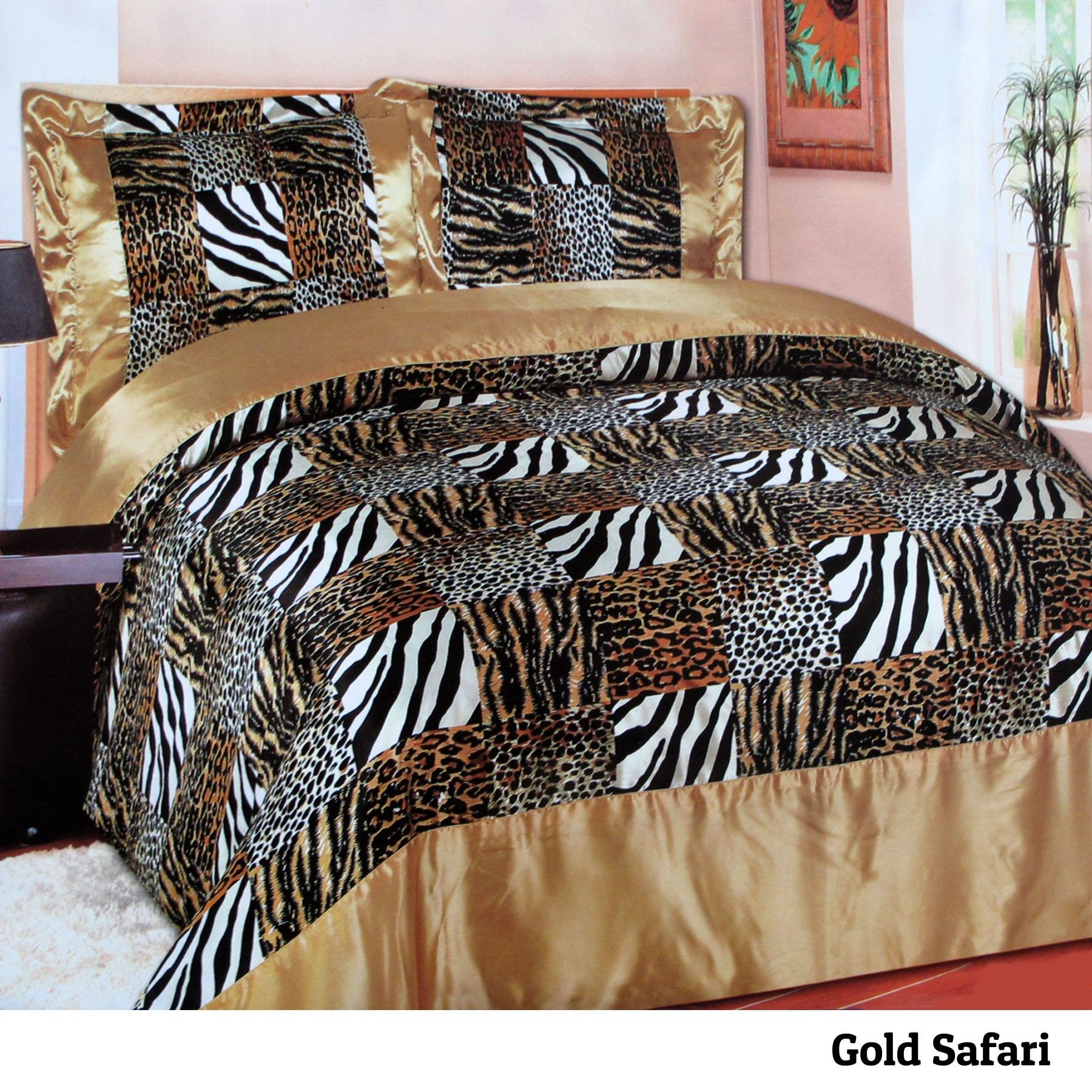 Safari Gold Quilt Cover Set Quilt Cover Sets Quilt Cover Cover