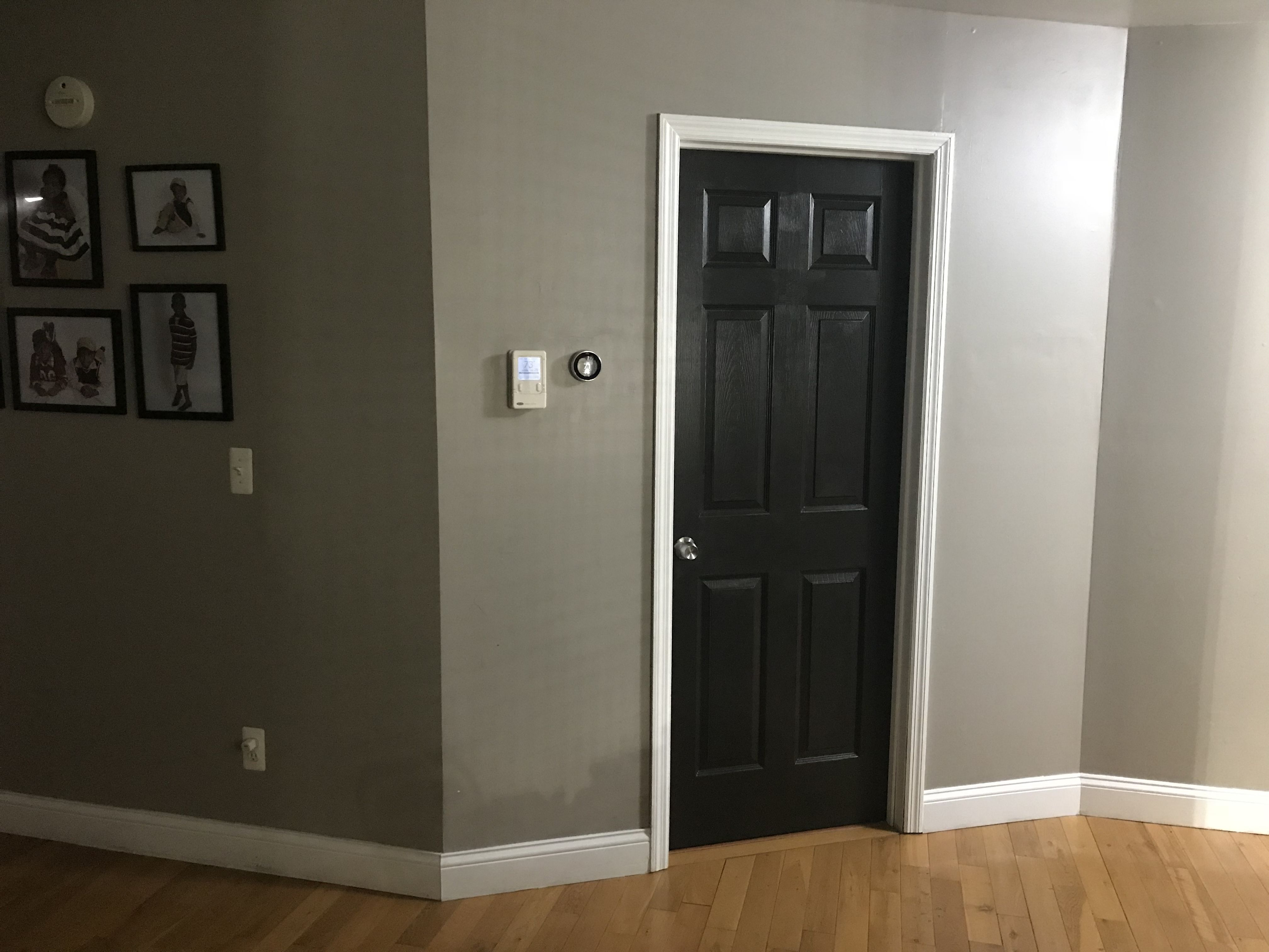 Hallway Door Painted Black Using Behr Black Mocha And Walls