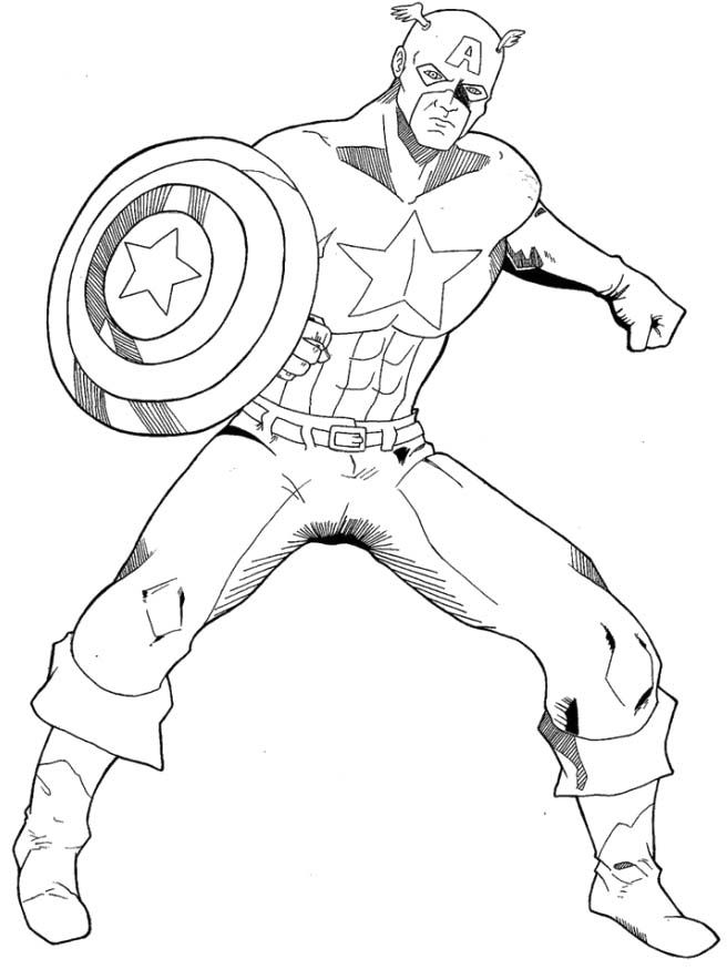 Free Coloring Page Captain America Printable Coloring Pages New at ...