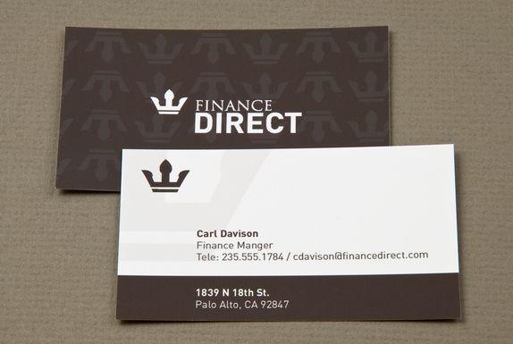Finance Direct Business Card Biz Card Ideas Business Card Design