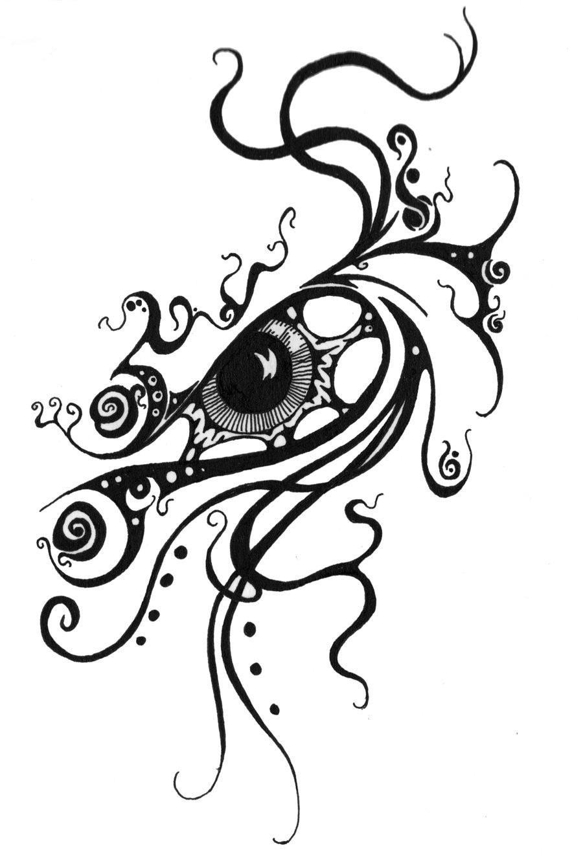 Swirl Eye Tattoo Design   eye balls   Pinterest   Augen, Augen ...