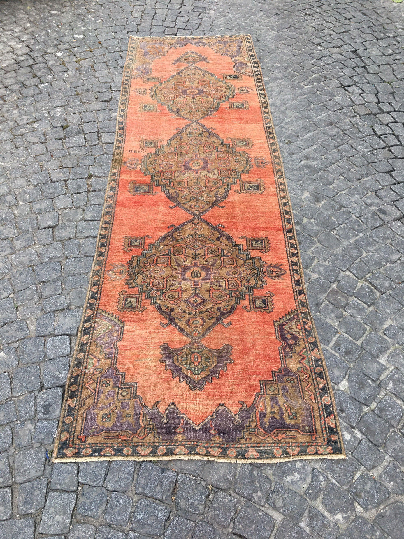 Turkish Runner, 052  10.4 Ft x 3.1 Ft.  3.10cm x 0.94cm Vintage handmade Low pile Tribal Carpet  Anatolia Home Decor. Konya Rug. #carpet #rug #homedecor #officerunner #runner #oushak #HomeDécor #turkishkilimpillow #bohemianpillow #cushioncover #decorativepillow #pillowcase #bohokilimpillow #turkish #rug #etsyrug #etsy #carpet #homedecor #homedizayn #homedesign #newyork #america #dallas #handmaderug #handmade #ottoman #ottomanrug #ruglove #kilimmodelleri #vintage #vintagestyle #oushakrug #kilim