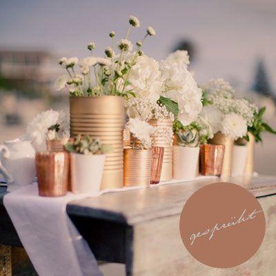 Ein Diy Fur Die Letzte Minute Life Is Delicious Weddings Hochzeit Deko Blechdosen Tischdeko