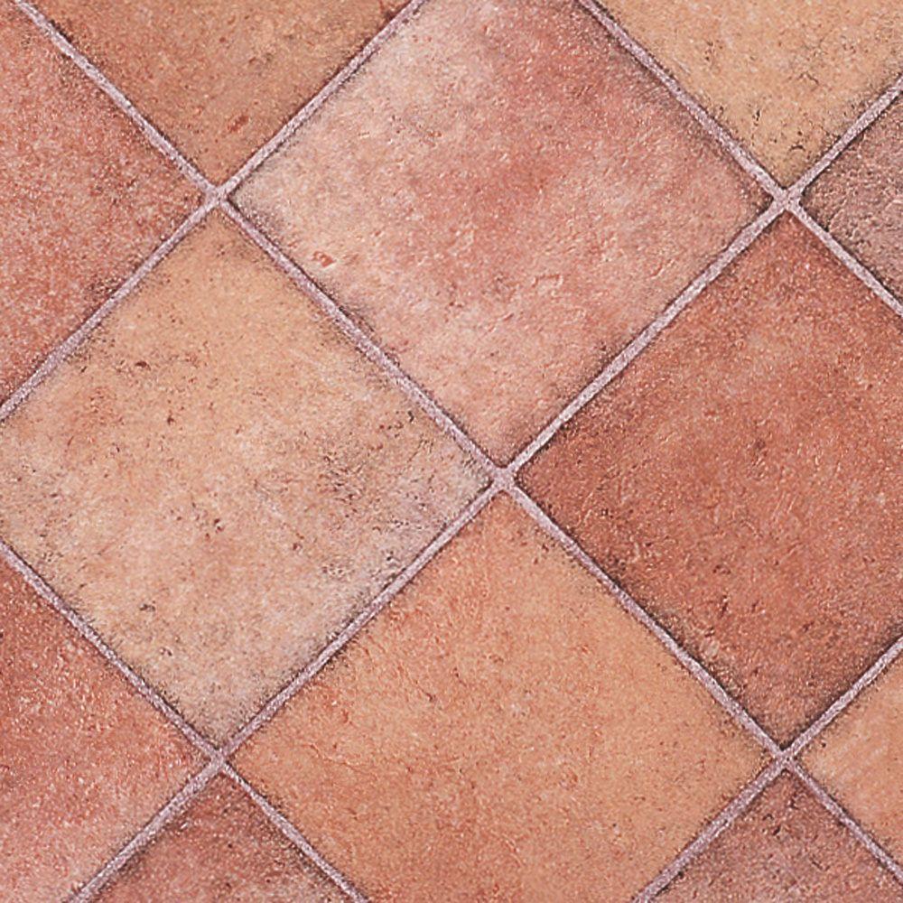 Terracotta Diamond Tile Rhinofloor Vinyl Flooring Slip Resistant Quality Lino Tile Effect Vinyl Flooring Vinyl Flooring Flooring