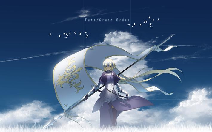 Download Wallpapers Jeanne D Arc Fan Art 4k Manga Fate Grand Order Besthqwallpapers Com Joan Of Arc Fate Anime Wallpaper Jeanne D Arc