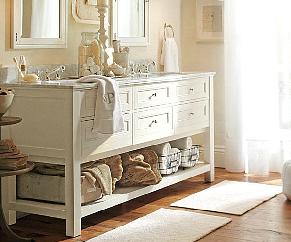 Elegant Bathroom Makeover Ideas Bathroom Storage Solutions - Pottery barn bathroom storage for bathroom decor ideas