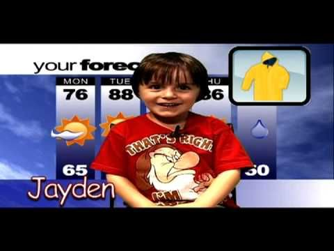 The Weather Kids on TBCN YouTube Weather report