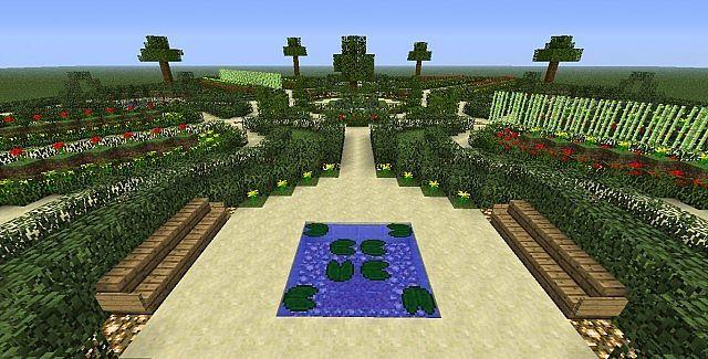 13+ Minecraft gardens ideas