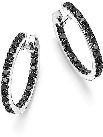 0caeef138922db Bloomingdale's Black Diamond Inside Out Hoop Earrings in 14K White Gold,  .85 ct. t.w. - 100% Exclusive