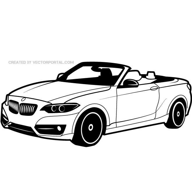 Bmwcarimage: Vector Drawing Of A BMW Car.